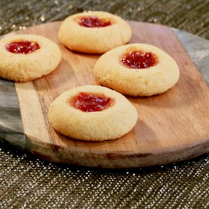 Food processor recipes allrecipes cheesy thumbprint appetizers with hot pepper jelly recipe cheddar thumbprint cookies are filled with hot forumfinder Images