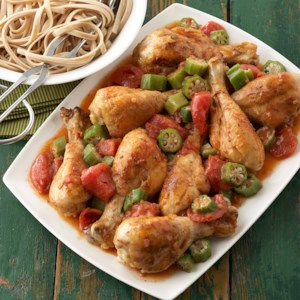 Louisiana Chicken Drumsticks and Tomatoes