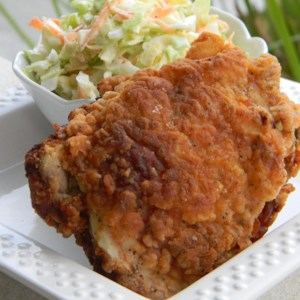 Soul food recipes allrecipes heathers fried chicken recipe chicken thighs and drumsticks marinate all day or overnight in seasoned forumfinder Choice Image