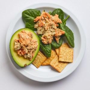 Salmon Salad-Stuffed Avocado
