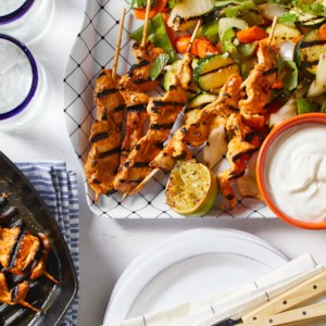 Chipotle Chicken Satay with Grilled Vegetables