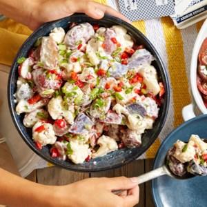 Cauliflower-Potato Salad with Horseradish Dressing