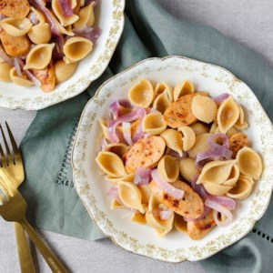 Chicken Sausage & Onion Pasta