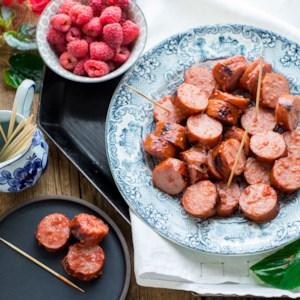 Raspberry BBQ Sausage Bites
