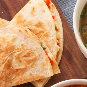 Sweet Pepper-Green Onion Quesadillas