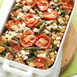 tomato spinach and feta strata - Christmas Meat Recipes