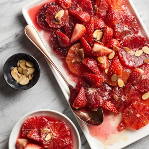 Blood Oranges with Almond Syrup
