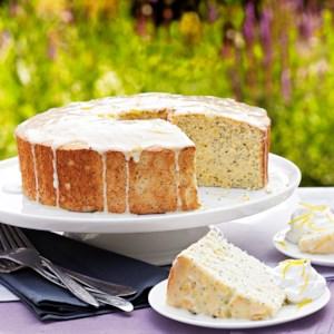 Lemon-Poppy Seed Angel Cake