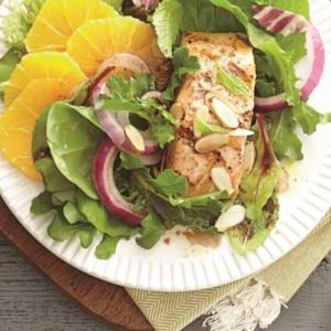 Salmon Salad with Orange-Balsamic Vinaigrette