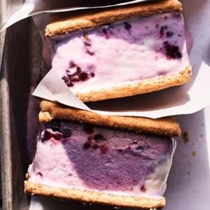 Blackberry-Ginger Ice Cream Sandwiches