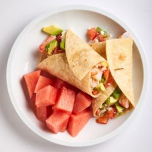 Shrimp, Avocado & Feta Wrap