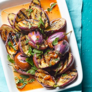 Grilled Baby Eggplant Agrodolce
