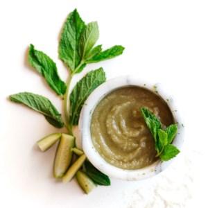 Cucumber-Mint Sugar Body Scrub