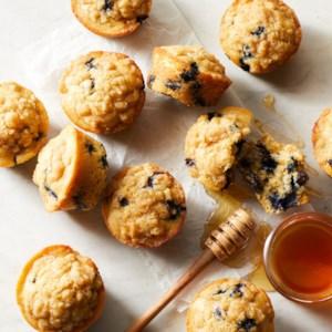 Blueberry-Lemon Crumb Muffins