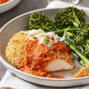 Chicken Parmesan with Broccolini
