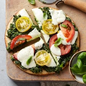 Flatbread with Pesto & Mozzarella
