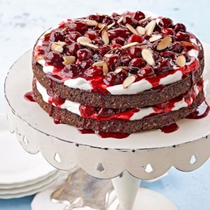 Chocolate Almond Torte With Cherry Syrup