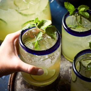 Cucumber-Lime Mexican Mojitos