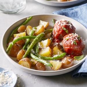 WENDY: Asian meatballs on snow peas picks