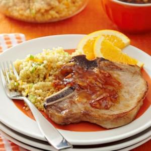 Orange-Sauced Pork Chops with Quinoa