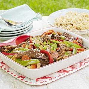 Beef and Spring Vegetable Stir-Fry