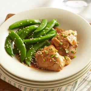 Asian-Garlic Chicken Thighs