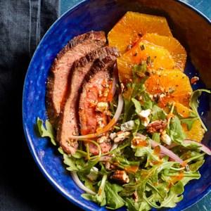 Smoky Steak Salad with Arugula & Oranges
