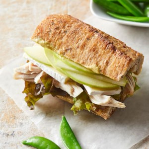 Turkey-Apple-Brie Sandwiches