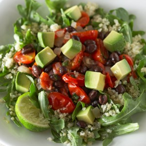 Black Beans & Avocado on Quinoa