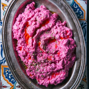Yogurt with Beets (Borani Chogondar)