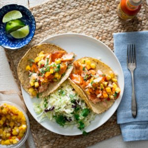 Salmon Tacos with Pineapple Salsa