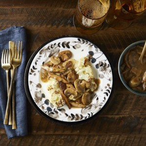 Vegan Cauliflower Steaks with Mushroom Gravy