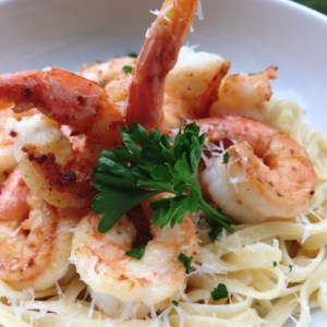 Creamy Shrimp Scampi with Half-and-Half