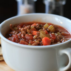 Instant Pot(R) Hamburger Soup  Recipe - Carrots, celery, and barley add heartiness to this tomato-based hamburger soup that's easy to make in the Instant Pot(R).
