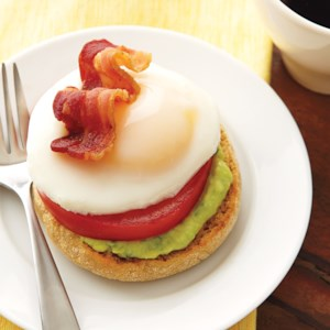 Eggs Benedict with Avocado Cream