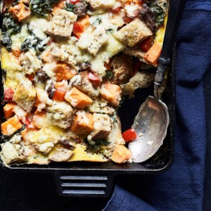 Sweet Potato & Sausage Strata