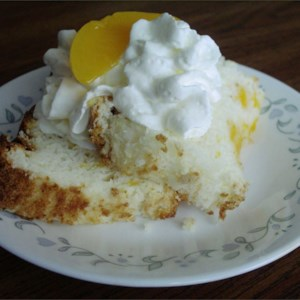 Angel food cake from a mix recipes allrecipes peach angel food cake forumfinder Image collections