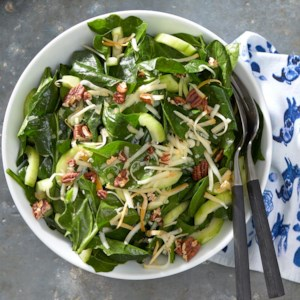 Spinach Salad with Warm Maple Dressing