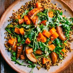 Roasted Butternut Squash & Pear Quinoa Salad