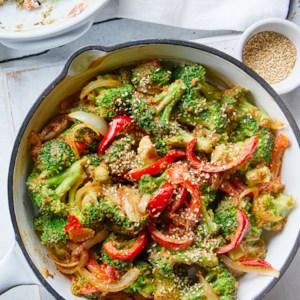 Sautéed Broccoli with Peanut Sauce