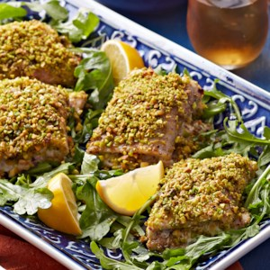 Pistachio-Crusted Baked Trout