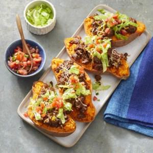 Taco-Stuffed Sweet Potatoes