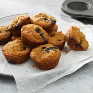 Vegan Flourless Blender Blueberry Mini Muffins