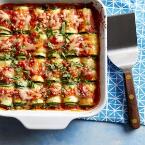 Zucchini Lasagna Rolls with Smoked Mozzarella