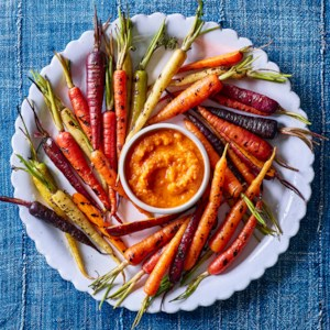 Grilled Carrots with Smoky Ketchup