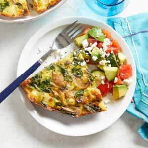 Spinach-Mushroom Frittata with Avocado Salad