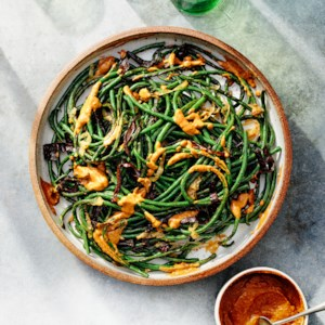 Grilled Long Beans with Creamy Pasilla Chile