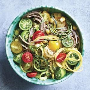 Summer Vegetable Sesame Noodles