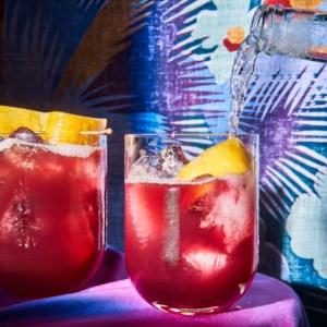 Elderberry Sunset Cocktail