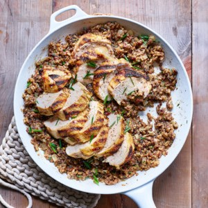 Grilled Chicken with Dirty Wild Rice